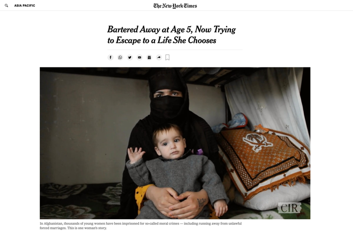 Afghanistan, women's rights, documentary, New York Times